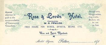 Rose and Crown billhead [X704/92/21/3]